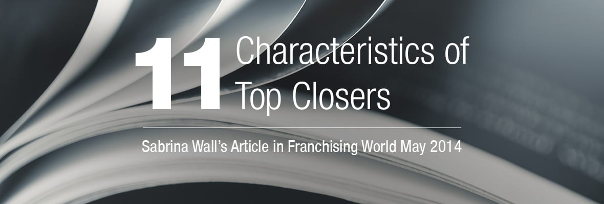 Sabrina's Article in Franchising World