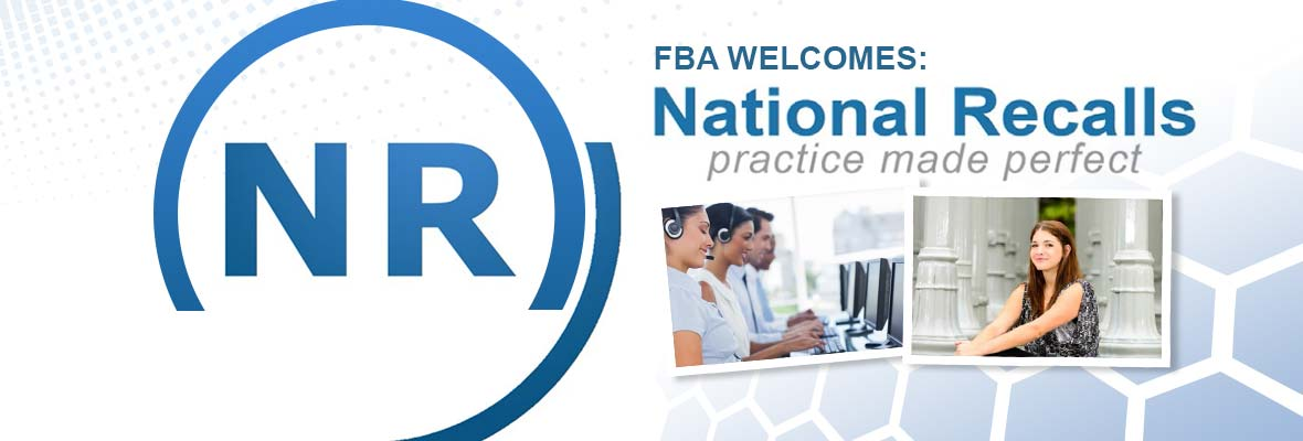The FBA Welcomes National Recalls Franchise!