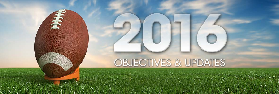 Kicking off 2016: Objectives & Updates
